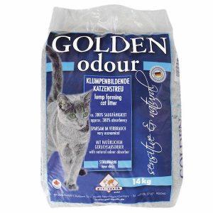 Arena aglomerante para gatos Golden Odour